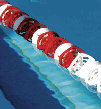 Anti-wave lane ropes available in 3 models - Swimming pool