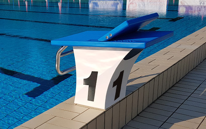 Starting Blocks For Deck Level Swimming Pools Nautilus And