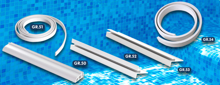 Liner profiles in pvc and aluminium
