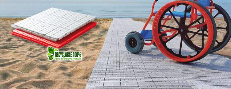 Fast Floor es la pasarela de playa enrollable que es fácil de colocar