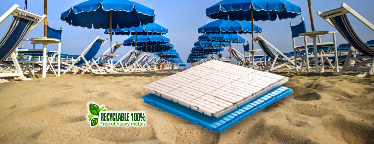 Accessible and safe beach with the Fast Floor walkway