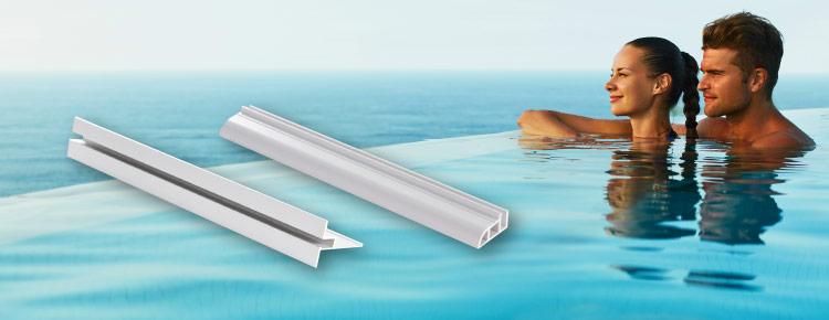 PVC and aluminum profiles for fixing the Liner