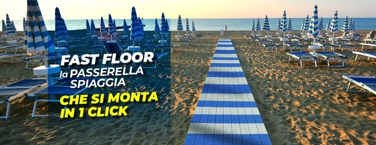 Fast-Floor la passerella spiaggia che si monta in 1 click
