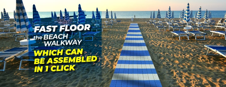 Fast-Floor the beach walkway that can be assembled in 1 click